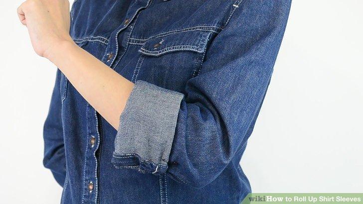 روش های تا کردن آستین لباس