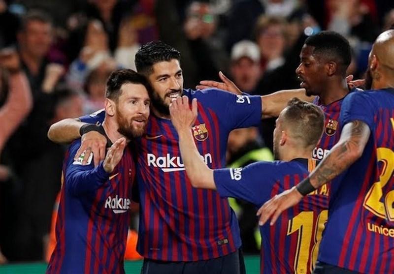 بارسلونا با گل مسی بیست وششمین قهرمانی در لالیگا را جشن گرفت