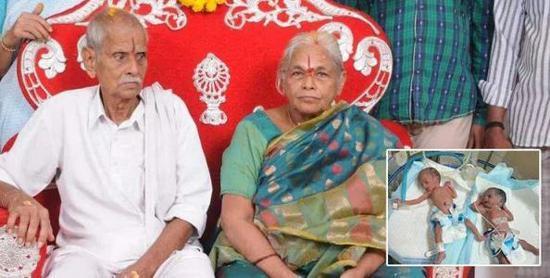 زن 74 ساله هندی دوقلو به دنیا آورد!